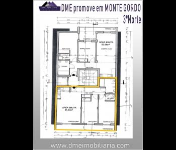 T1+1 construção nova em pleno centro de Monte Gordo
